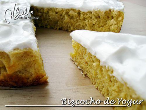 Bizcocho de Yogur, dieta Dukan (fase Ataque). Sin yemas, ni maizena, ni gluten.