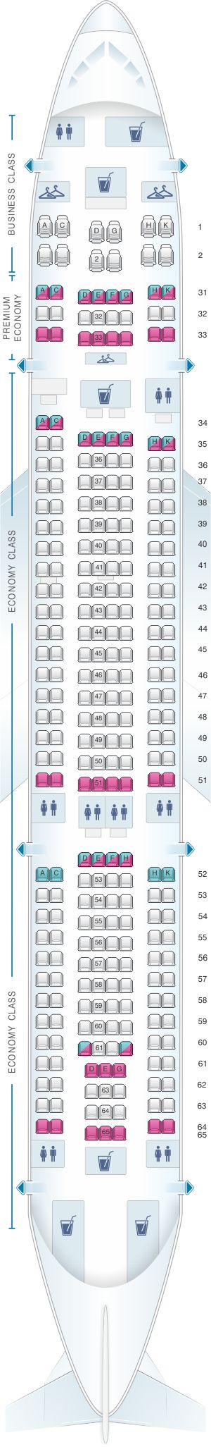 Seat Map China Southern Airlines Airbus A33G