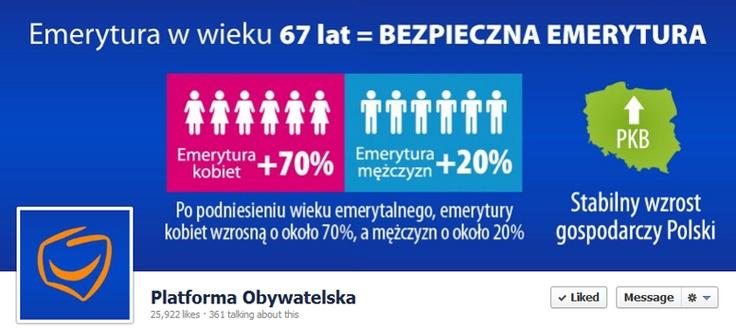 Platforma Obywatelska ogrywa na coverze reformę emerytalną