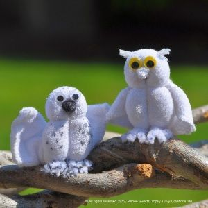 Cute Washcloth Towel Owl Animal
