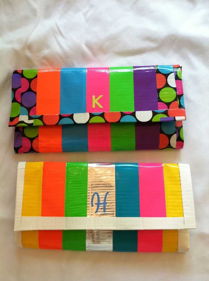 duck tape wallets ... Love the stripes