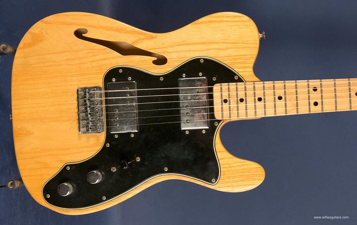Natural, a fine semi-hollow body guitar. Did you know the Fender pickups were designed by Seth Lover who invented the PAF for Gibson? The back of the neck has finish removed so it feels satiny. Great pickups, a vintage treasure for less than new custom shop made yesterday.