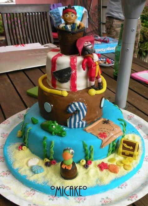 torta jake e i pirati dell'isola che non c'è