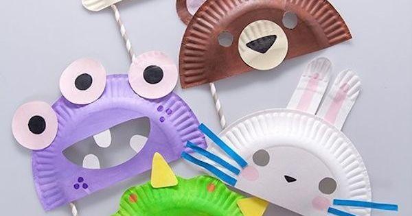 Manualidades para niños, máscaras hechas con platos | Plato, Manualidades and Google