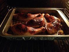 Recette Cuisses de poulet au miel cuites au four