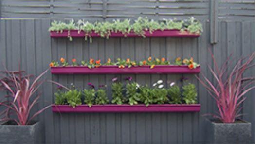 Gardenclock Gutter Garden Fence Planters Diy Fence