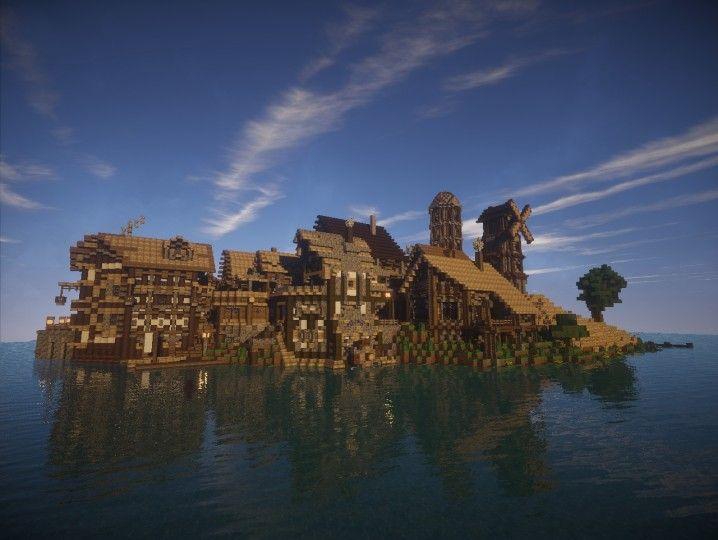 Harbor-Island Minecraft Project | Medieval Minecraft ...