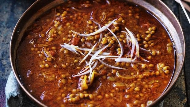 Lentils with Tamarind Sauce A warming Indian vegetarian curry to lift your spirits.