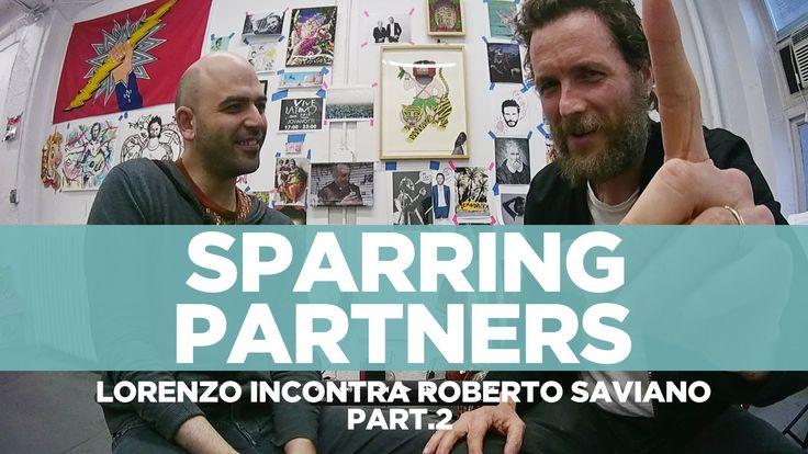 """#RobertoSaviano e #LorenzoJovanotti - #SparringPartners 2° Parte """" 'Sparring partners' è il nome che abbiamo dato alla nostra chiacchierata, nata per caso e ripresa da una telecamerina. Come un allenamento tra pugili""""."""