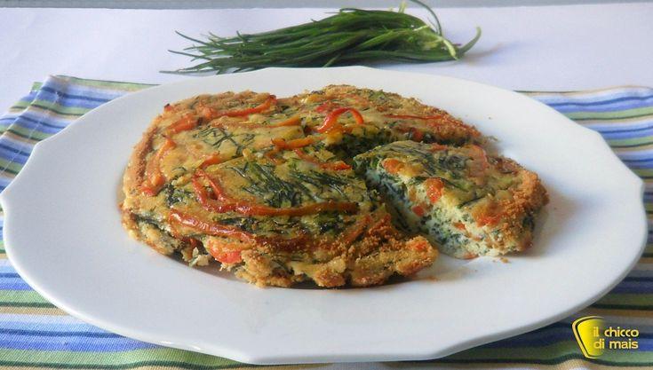 #Frittata con barba di frate e #peperoni #ricetta facile il #chiccodimais #agretti #omelette #pepper #eggs #recipe #italy #italian #food http://blog.giallozafferano.it/ilchiccodimais/frittata-barba-di-frate-peperoni-ricetta-facile/