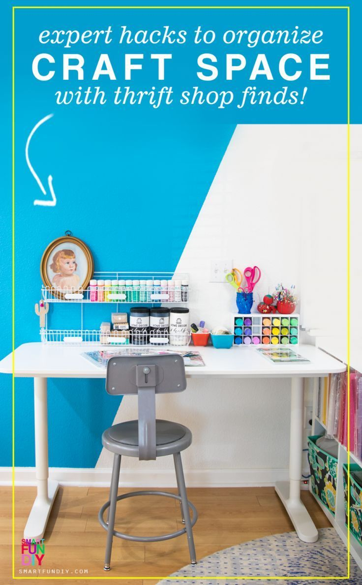 How to Set up a Small Craft Space   Ikea craft room, Ikea