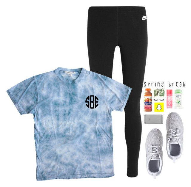 spring break! tomorrows plans! read d by lydia-hh on Polyvore featuring polyvore, fashion, style, Sophomore, NIKE, Native Union, Rimini, Victoria's Secret, Dove and clothing