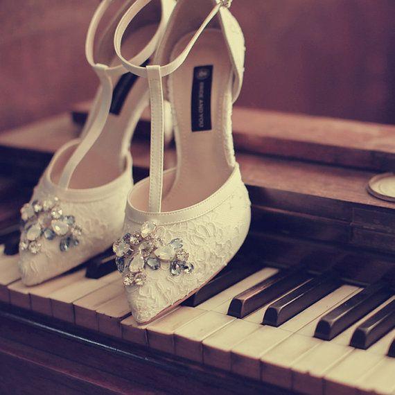 Handmade custom rhinestone crystal high heels Korean by Queenheels