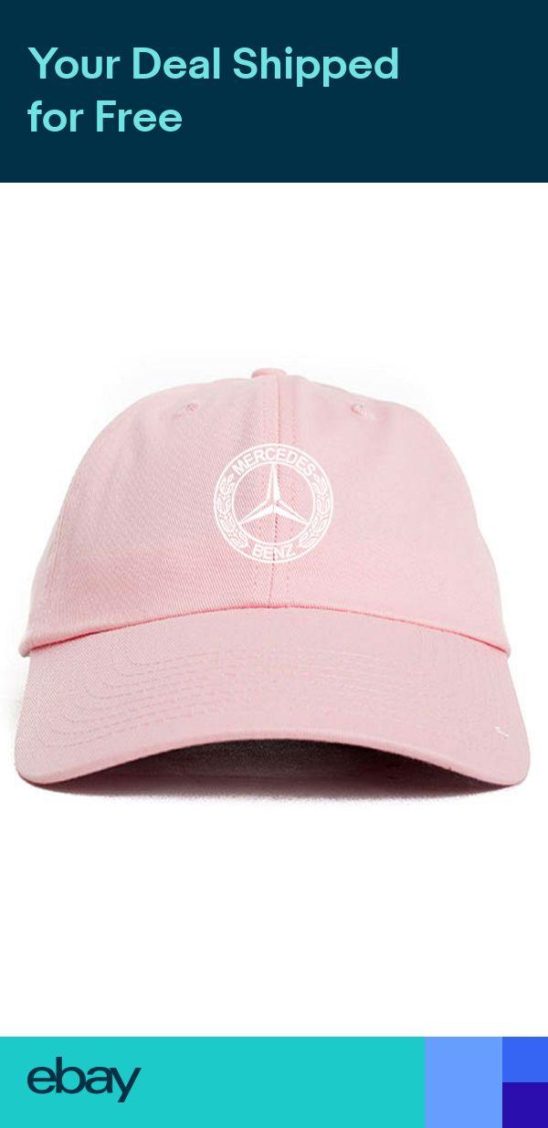 68a3b6e074d Mercedes Benz Logo Custom Unstructured Dad Hat Baseball Cap New-Pink w Black