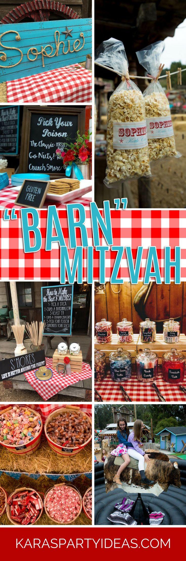 Kara s party ideas rustic country barn wedding party ideas supplies -  Barn Mitzvah A Barnyard Themed Bat Mitzvah Via Kara S Party Ideas