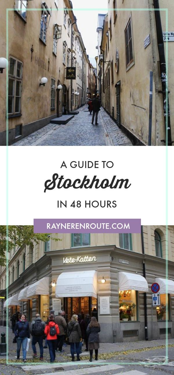 A travel guide to Stockholm in 48hours. What to do, where to eat and where to stay.