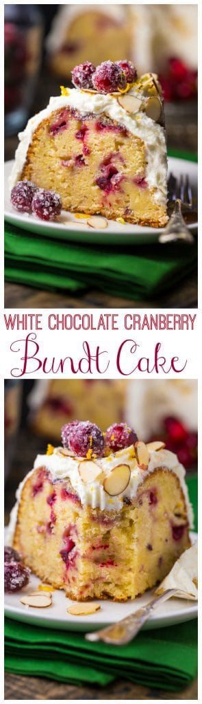 White Chocolate Cranberry Bundt Cake is perfect for Christmas brunch!