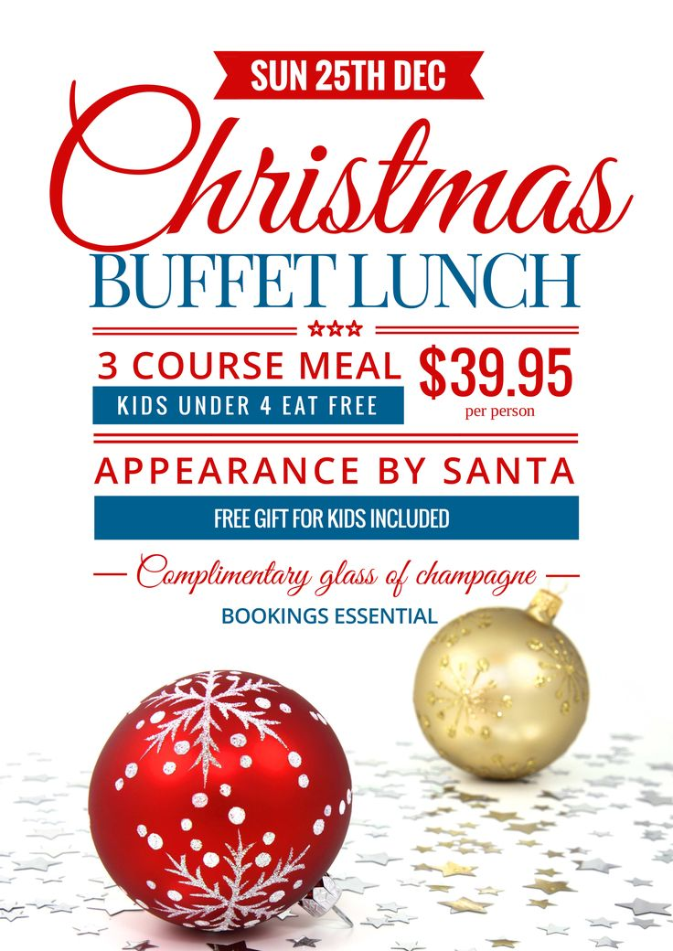 Use this Christmas Buffet Lunch promotional template for your event this year! Use this template or customise as much as you like. Visit easil.com to get started!