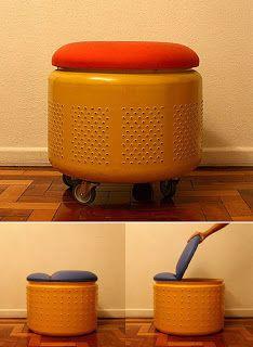 Rosely Pignataro: Reciclando tambor de máquina de lavar.