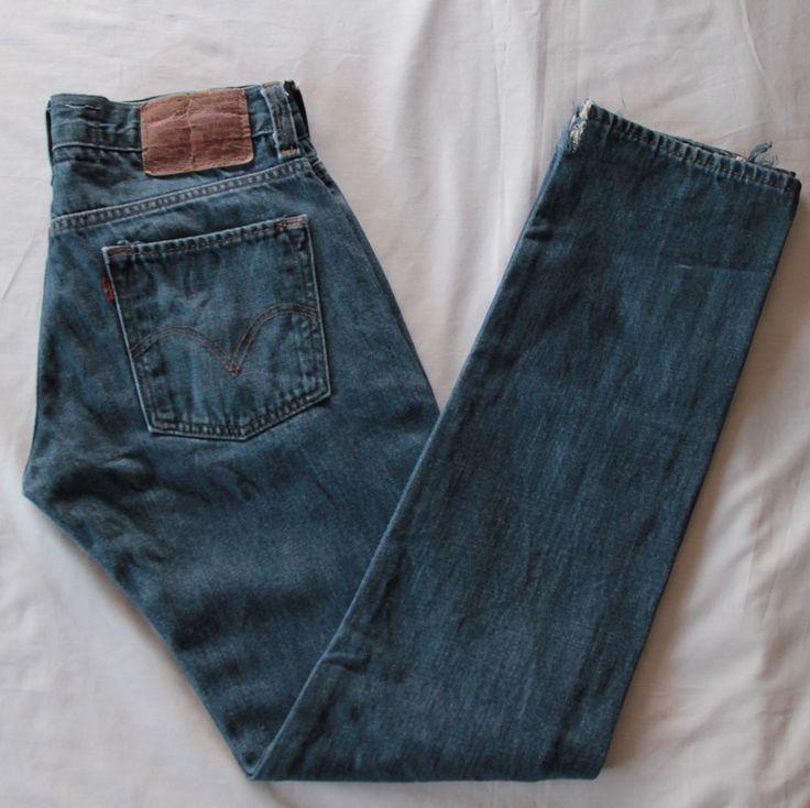 Levis Original 511 mens Skinny jeans torn at hem size 31x32 J49 #Levis #SlimSkinny