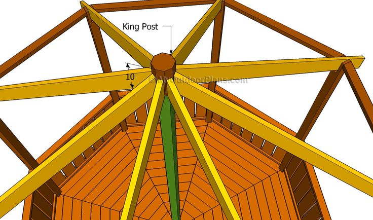 25 best images about gazebos on pinterest diy pergola for Hexagonal roof framing