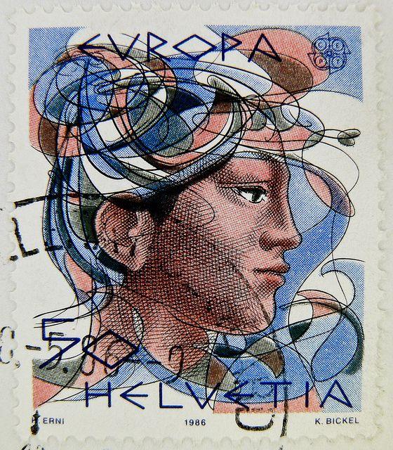 stamp Helvetia 50r Swiss postage Switzerland timbre-poste Suisse francobolli bollo Svizzera selo Suíça sellos Suiza 瑞士邮票 yóupiào Ruìshì почтовая марка Швейцария  poštarina marke Švajcarska Wysyłka znaczki Szwajcaria 우표 스위스 frimärken Schweiz Briefmarken fr by stampolina, via Flickr