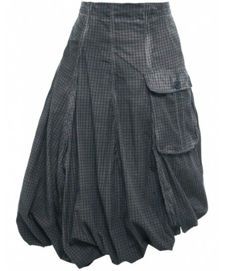 Brown Check & Wire Skirt