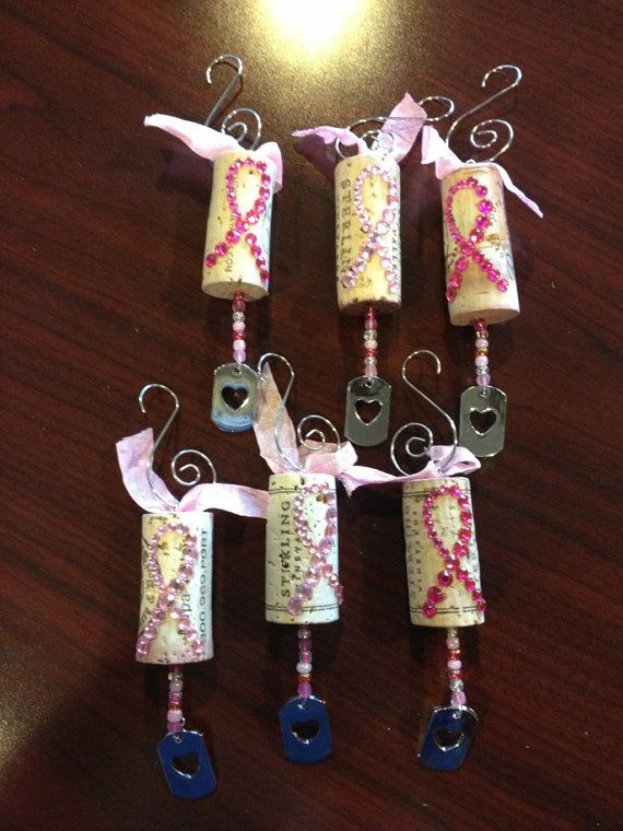 I know i could do this...really cute!! RESERVED FOR JACKIE Wine cork ornaments by ideezine4u on Etsy, $39.00