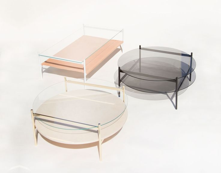 Yield mixed-material coffee tables