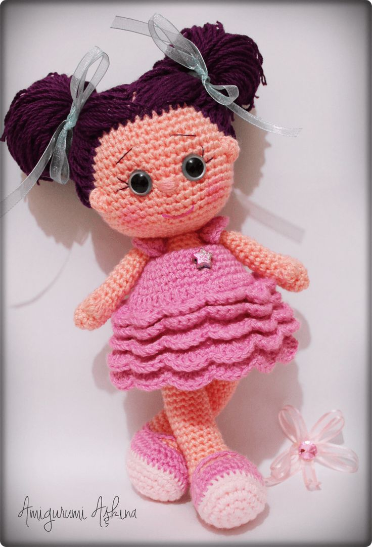 Amigurumi Yıldız Bebek- Amigurumi Star Doll | Tiny Mini Design