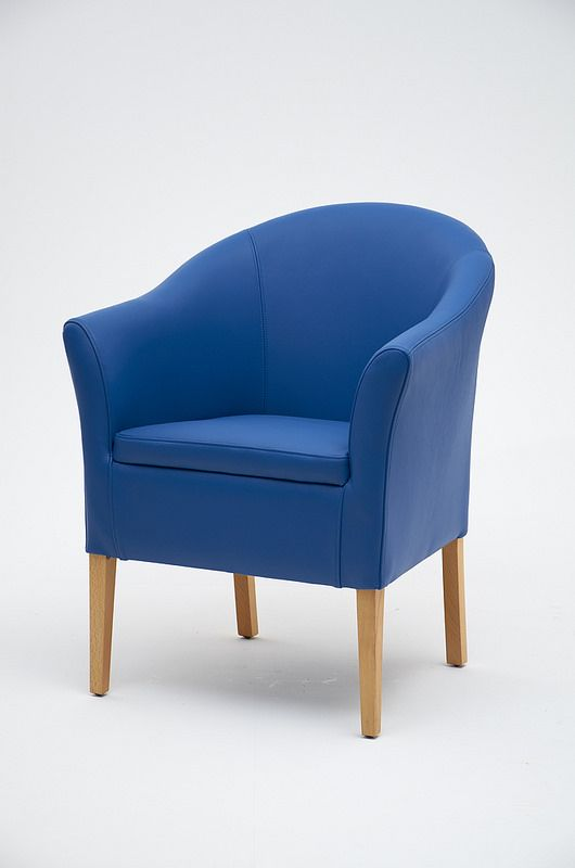 Blue Tub Chair from www.asnew-upholstery.co.uk