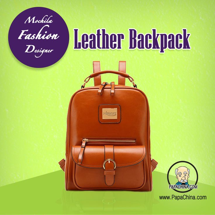 A Mochila Fashion Designer Leather Backpack will ensure your marketing campaign is a success. Having the ability of carrying personel items means your clients and prospects will not only use your promotional item, will see your brand when they do.