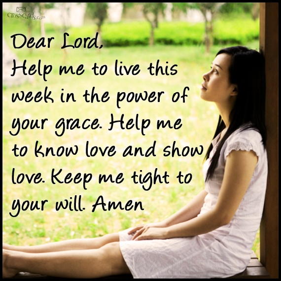 Grace this week Lord...♥