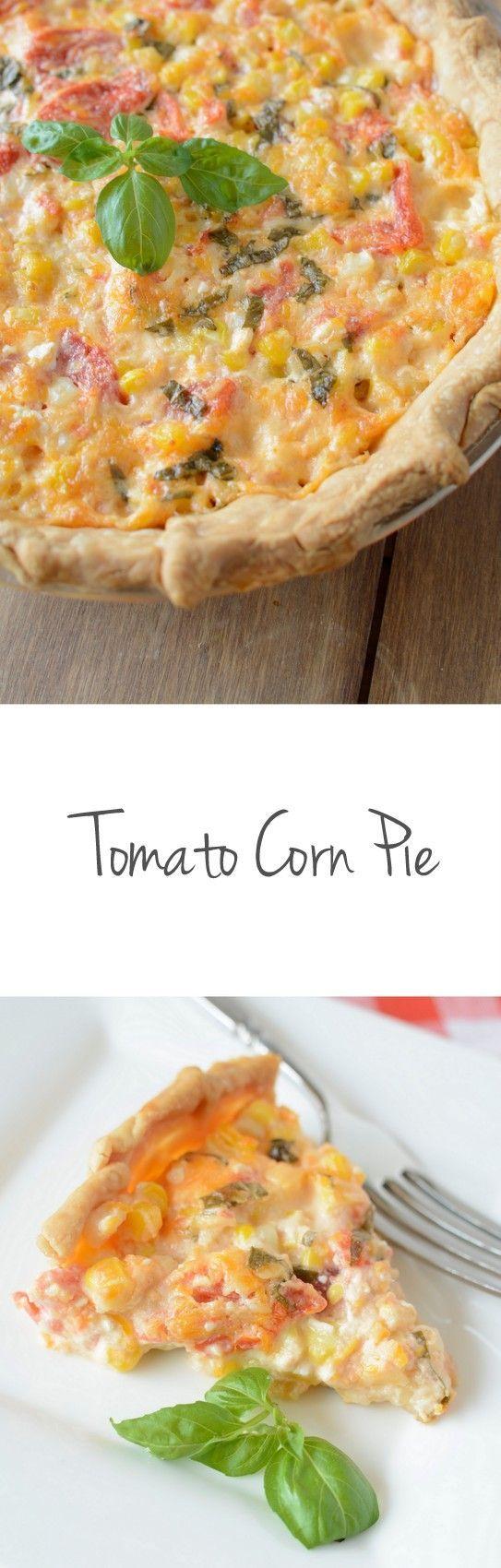 Tomato Corn Pie recipe on http://NoBiggie.net