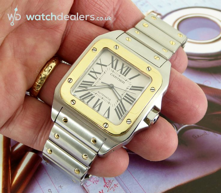 A fabulous bargain comes your way in the shape of this mint like, gents XL Cartier Santos 100, Cartier ref 2656 in 18ct gold and stainless steel. http://www.watchdealers.co.uk/other-watch-brands/2479-mint-steel-gold-gents-cartier-santos-100-xl-automatic
