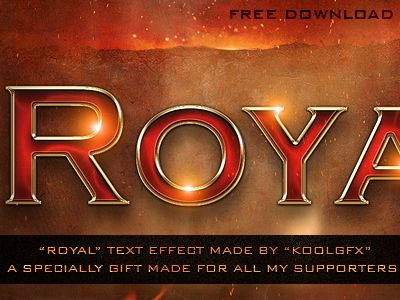 Download FREE Royal Text Effect
