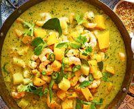Thai prawn, squash & pineapple curry
