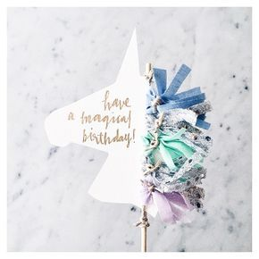 SUSAN || sur Instagram: ☄✨ || Unicorn cake toppers are now available on the website // customise the unicorn mane tassel colours and the text to whatever suits your magical unicorn-loving event x #LittleConfettiLove #Unicorn #CakeTopper