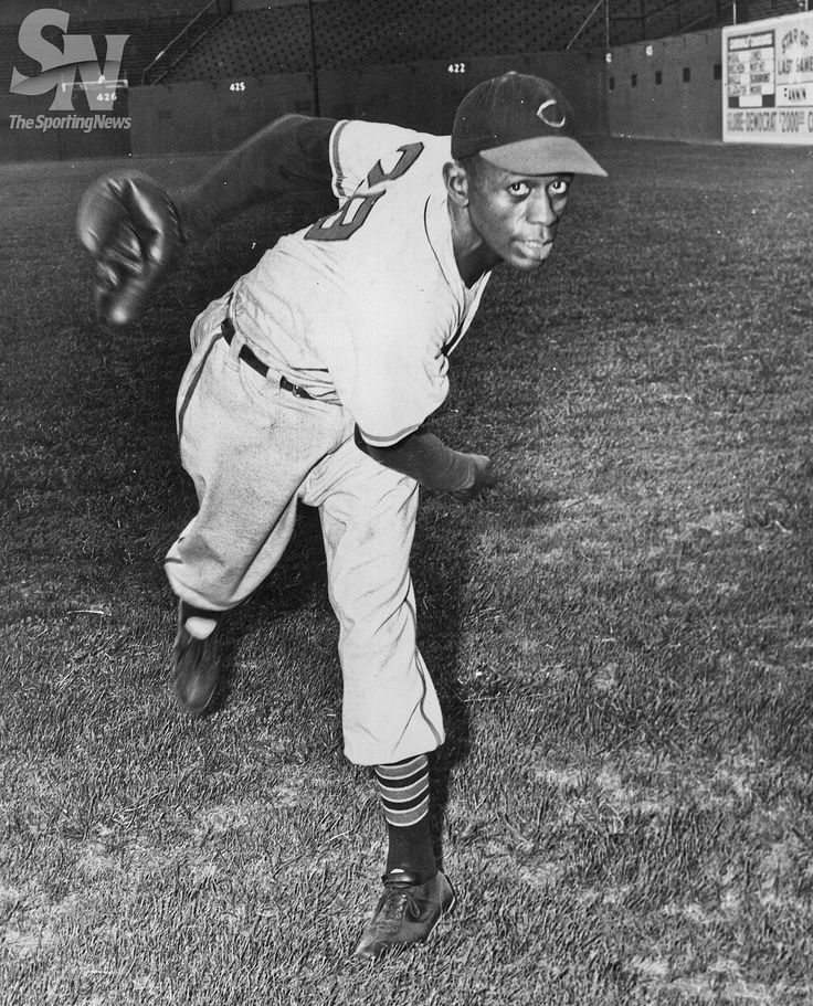 Aug. 6, 1952 - Satchel Paige, at age 46, became the oldest pitcher to complete a major league baseball game. Cleveland Indians Satchel Paige. (George Dorrill/Sporting News Archives)