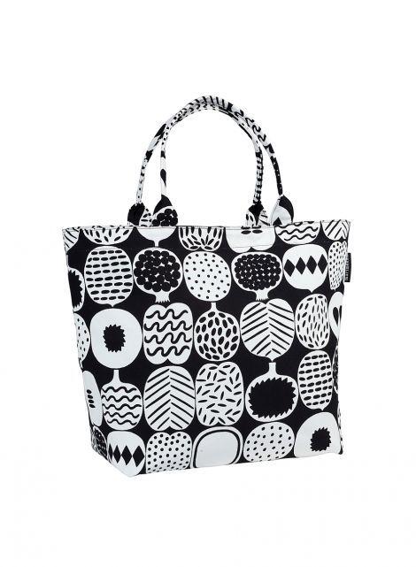 Kompotti/Paakkelsi-laukku (musta, valkoinen) |Laukut & asusteet, Laukut, Kassit | Marimekko