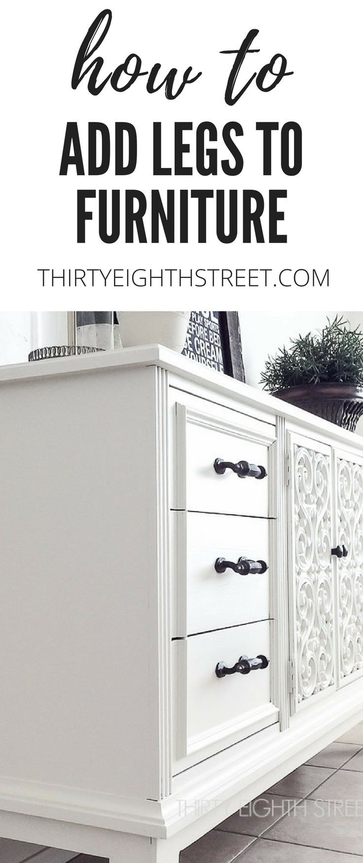 How To Add Inexpensive Fence Posts To Furniture for Legs! SO MANY AMAZING Furniture Before and After Makeovers | Thirty Eighth Street