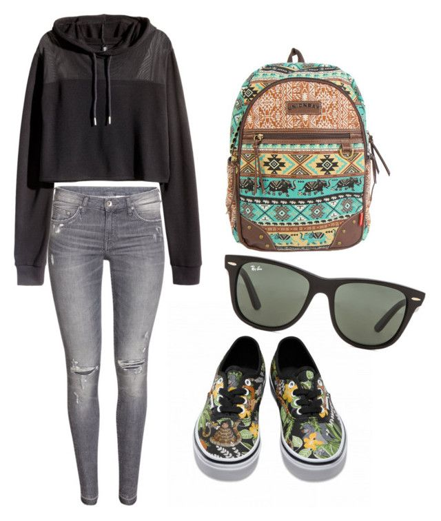 """""""Summer, please come soon!"""" by eline-storli on Polyvore featuring H&M, UNIONBAY, Disney, Ray-Ban, women's clothing, women, female, woman, misses and juniors"""