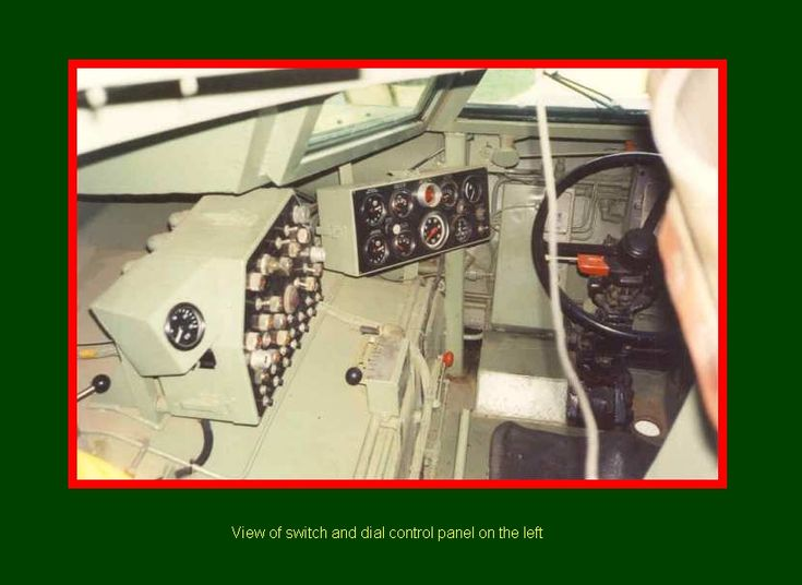 SADF.info RATEL 20 & 90 INTERIORS view of switch and dial control panel on the left