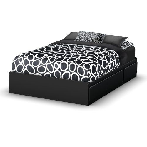 South Shore Storage Full Bed Collection 54-Inch Full Mates Bed, Pure Black $254.00