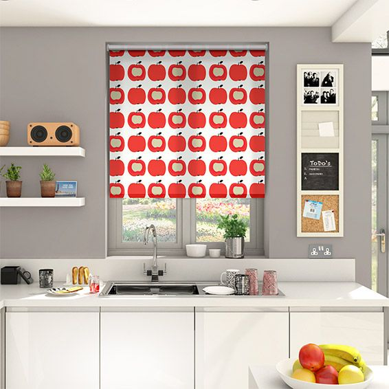 McIntosh White Roller Blind from Blinds 2go