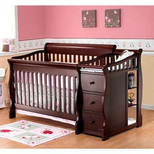 Sorelle Tuscany 4 In 1 Convertible Fixed Side Crib And Changing Table Combo