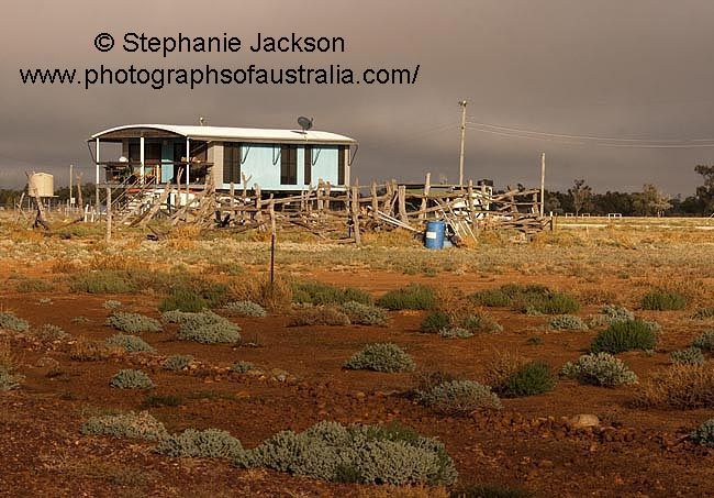 photo of house at the australian outback town of adavale in queensland