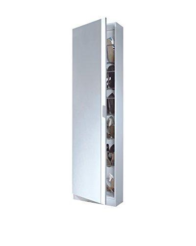 Scarpiera Zola 6 1 Porta Con Specchio Bianco