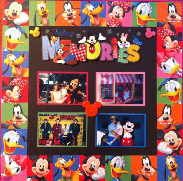 Maybe this will inspire me to get my scrapbook stuff back out and finish scrapping our 2009 Disney Vacation and 2011 Disney cruise, that are still undone.