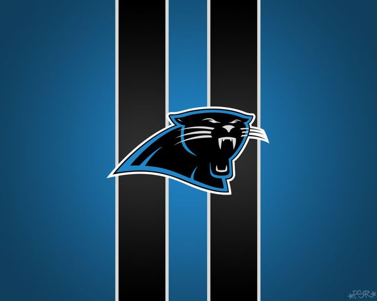Perfect For Lining The Walls Of The Man Cave  Carolina Panthers Striped  Wallpaper